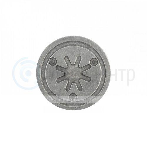 Тактильный индикатор алюминиевый, насечка D35 I-0 (AL). 35x35x4мм. 50279-AL-35x4-0