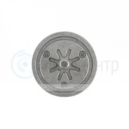 Тактильный индикатор алюминиевый, насечка D35 I-15 (AL). 35x35x19мм. 550279-AL-35x4-15