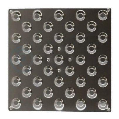 Плитка тактильная конусы шахматные 300х300х7, нерж сталь AISI304