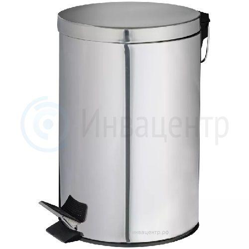 Ведро мусорное с педалью 20 литров 2591. Нержавеющая сталь