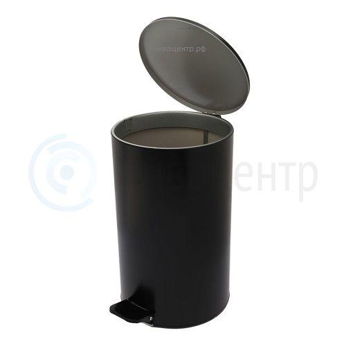 Ведро металлическое с педалью 20 литров 2590. Черное