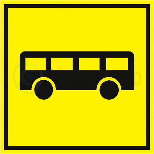 Тактильная пиктограмма Автобусная остановка 150x150 мм