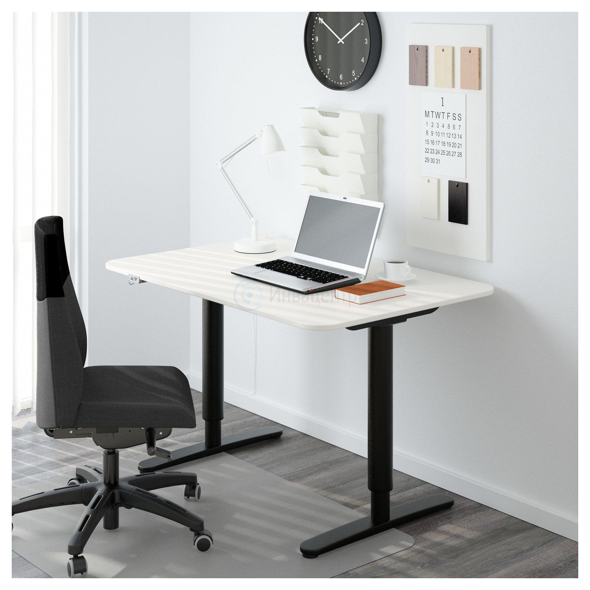 Стол для инвалидов Invastol-EBW с электроприводом, черно-белый