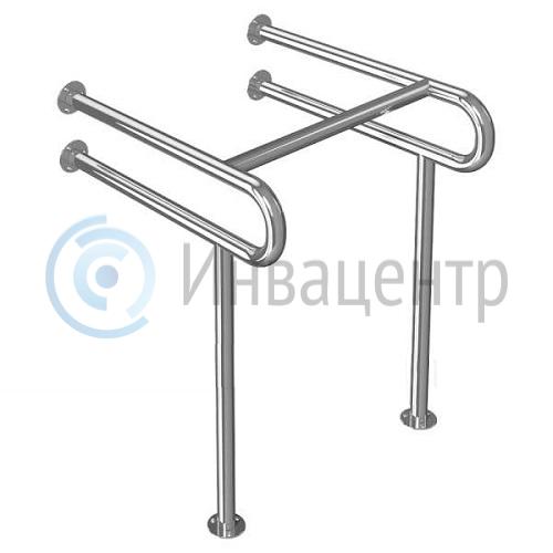Поручень для раковины пол-стена ПРПС2 нержавеющая сталь d-38