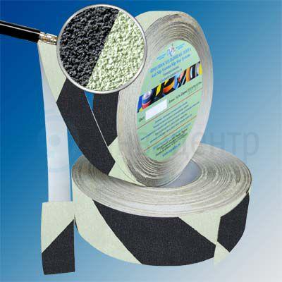 Сигнальная противоскользящая лента AntiSlip 60 grit 50мм/18м фотолюминисцентная