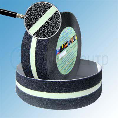Сигнальная противоскользящая лента AntiSlip 60 grit 50мм/18м с светящейся полосой