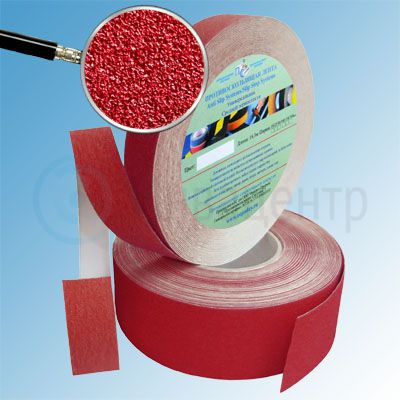 Противоскользящая лента абразивная SlipStop 80 grit 25мм/18м красная