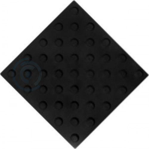 Тактильная плитка ПВХ 300х300 конус шахматный черная