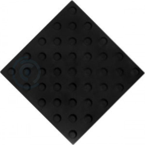 Тактильная плитка полиуретан 300х300 мм конус шахматный черный