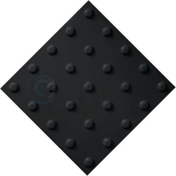 Тактильная плитка ПВХ 500х500 конус черная
