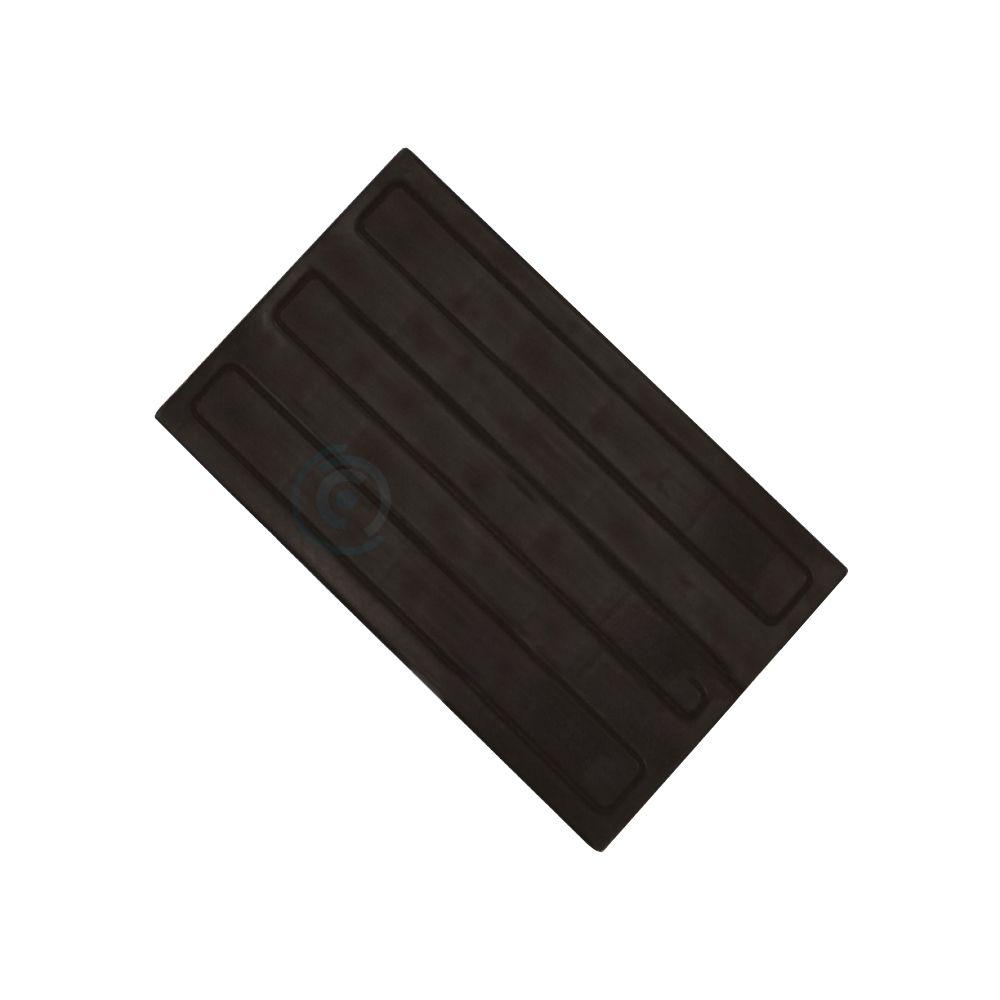 Тактильная плитка полиуретановая 300х180 полоса продольная черная