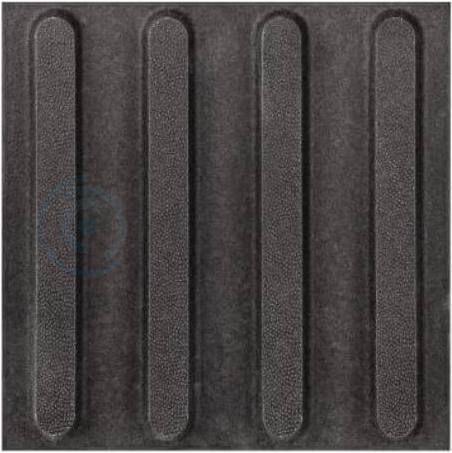 Тактильная плитка керамогранит 300x300 мм полоса линейная, черная
