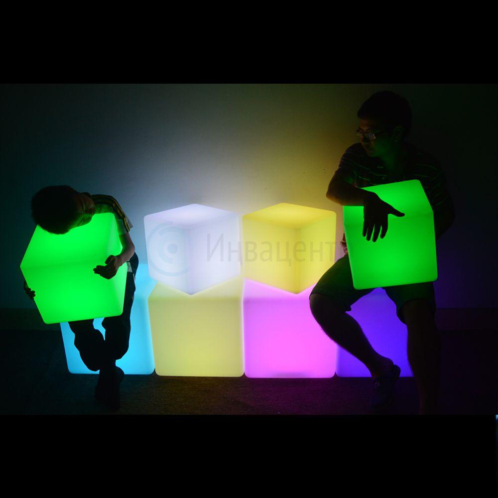 Интерактивный световой Пуф 60x60x60 см