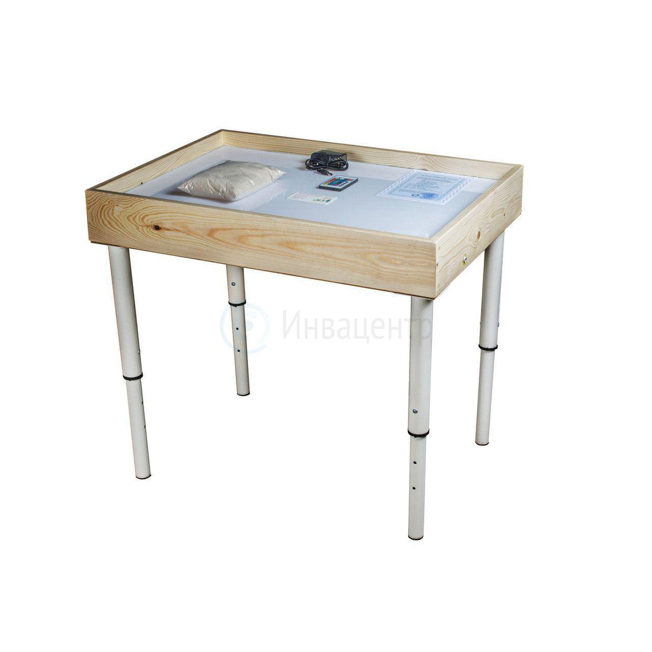 Световой стол с ножками 54*74 см Дерево