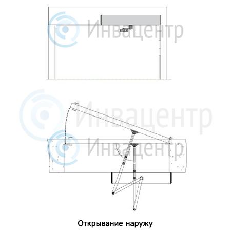 Устройство автоматического открывания дверей DSW-100. Открывание наружу