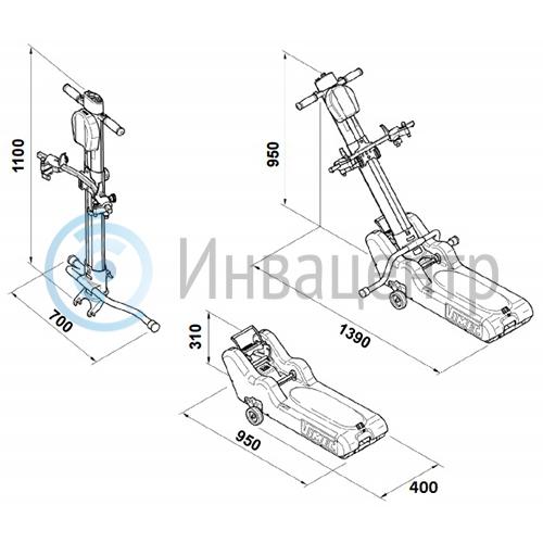 Гусеничный подъемник для инвалидов Roby T09