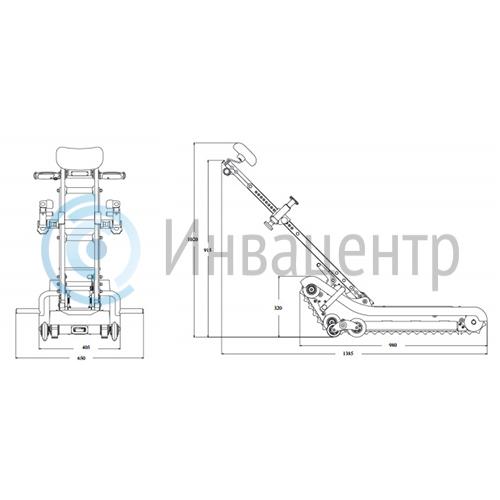 Лестничный гусеничный подъемник SANO LIFTKAR PTR 130
