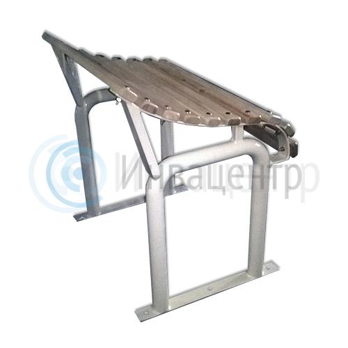 Скамья для инвалидов малая 600*600*430 мм. Деревянные рейки