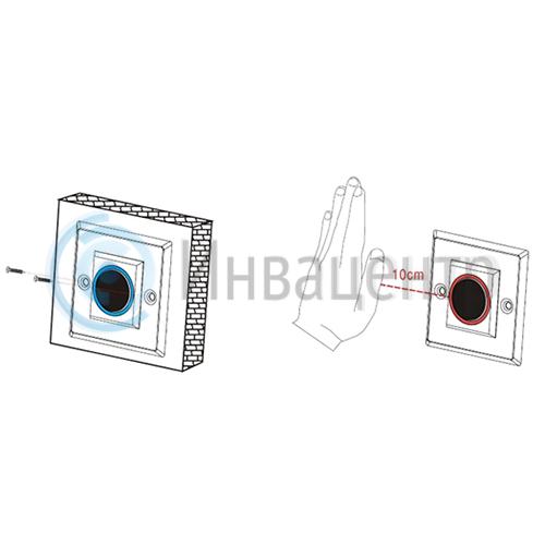 Кнопка открывания сенсорная PTE-301