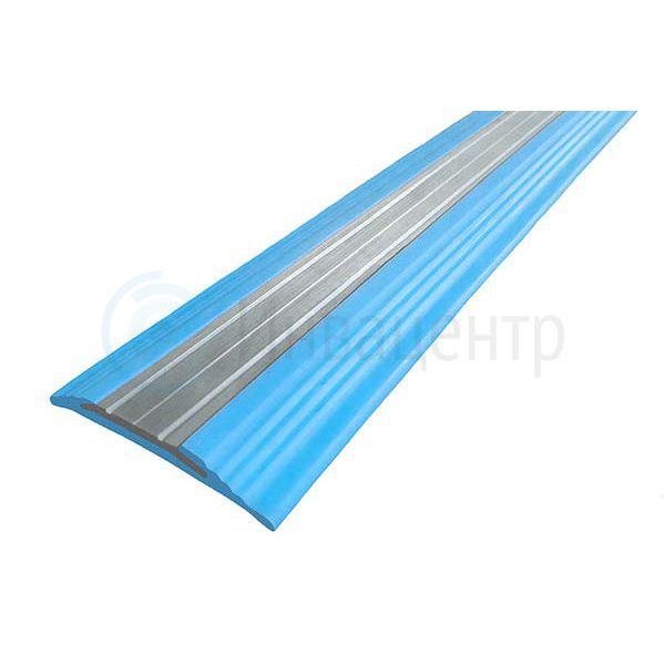 Резиновая накладная полоса против скольжения с алюминиевой вставкой 44 мм