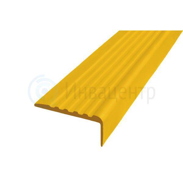 Тактильный направляющий самоклеящийся угол 44 мм желтый