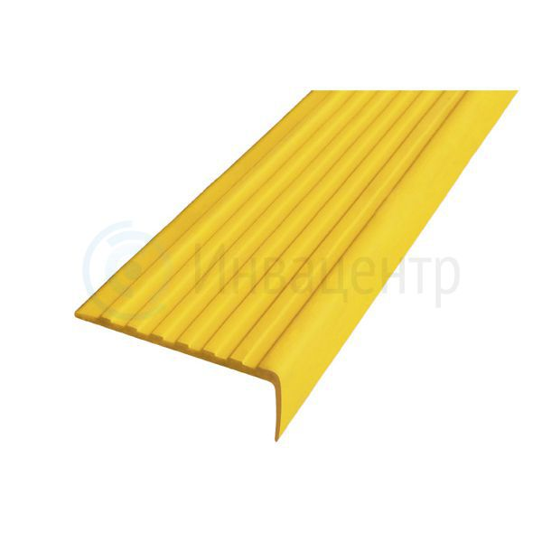 Тактильный направляющий самоклеящийся угол 55 мм желтый