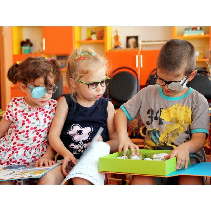 Адаптированный набор для слабовидящих детей