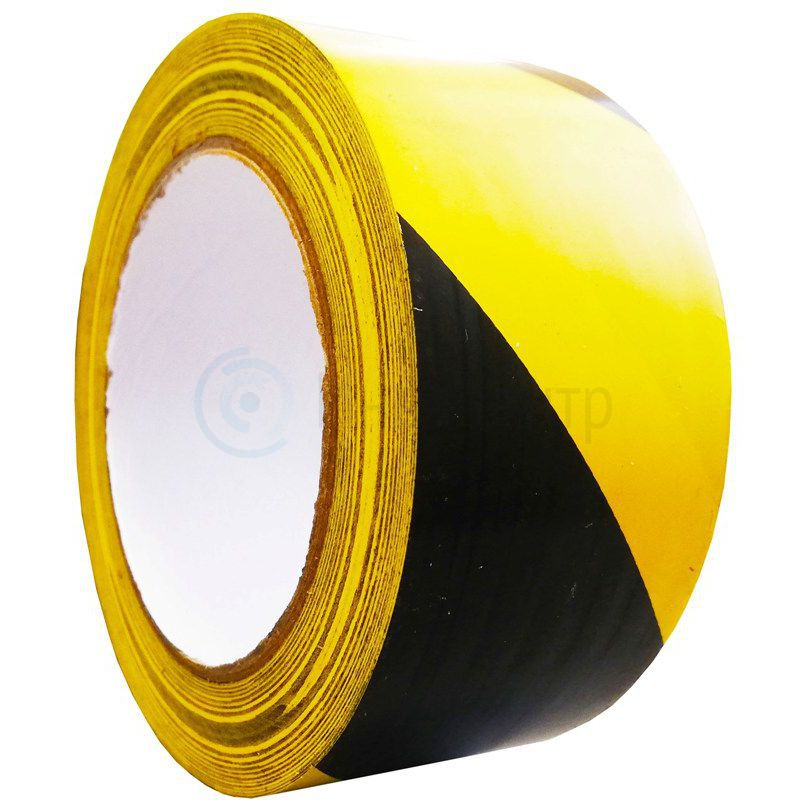 Контрастная сигнальная лента 100мм/33м. Желто-черная