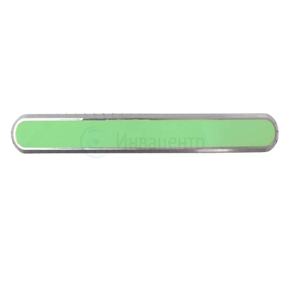 Комбинированный тактильный индикатор-полоса зеленого цвета 290x34x4 I-0(AL-PL)